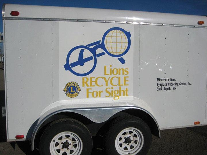 Image of used eyeglass collection trailer